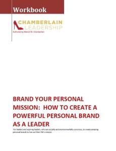 Personal Branding Workbook Cover Snapshot